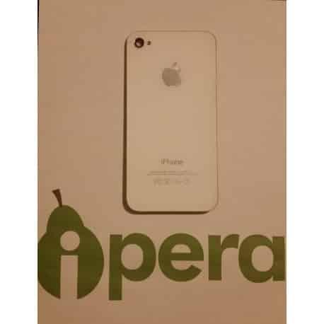 Cristal trasero iphone 4s blanco