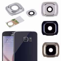 Lente Camara Trasera Samsung S6/S6 Edge Negro